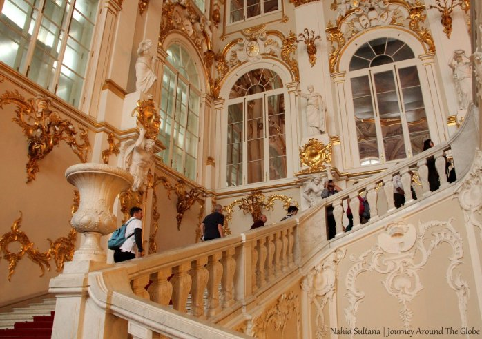 Grand staircase of Hermitage Museum in St. Petersburg
