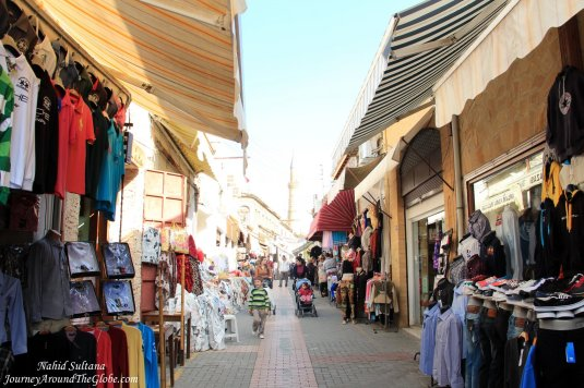 After crossing the border to North Nicosia in the old town