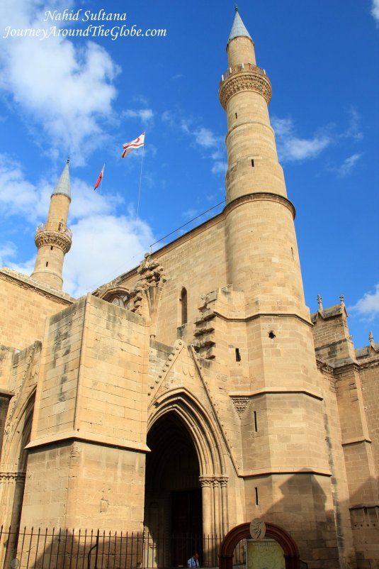 Selimiye Mosque from the 13th century, one of the top landmarks of Northern Cyprus