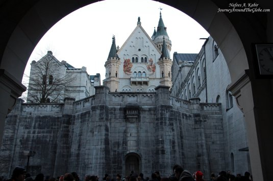 Entrance to Neuschwanstein Castle in Fussen, Germany