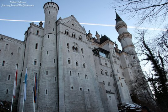 Neuschwanstein Castle built by King Ludwig II of Bavaria in the mid-19th century in Fussen, Germany