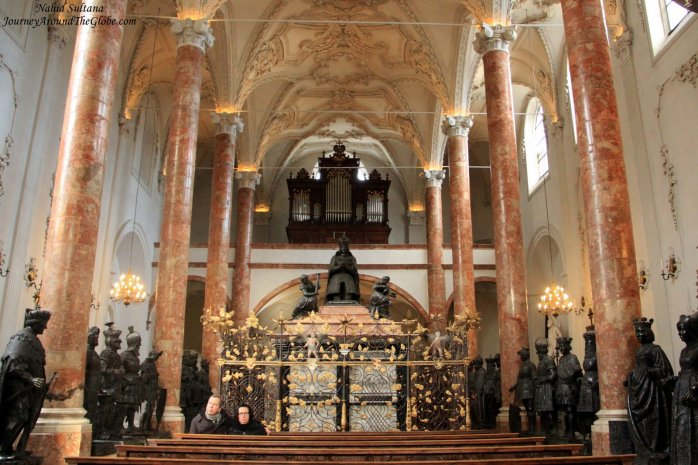 Hofkirche with the tomb of Emperor Maximilian I in Innsbruck, Austria