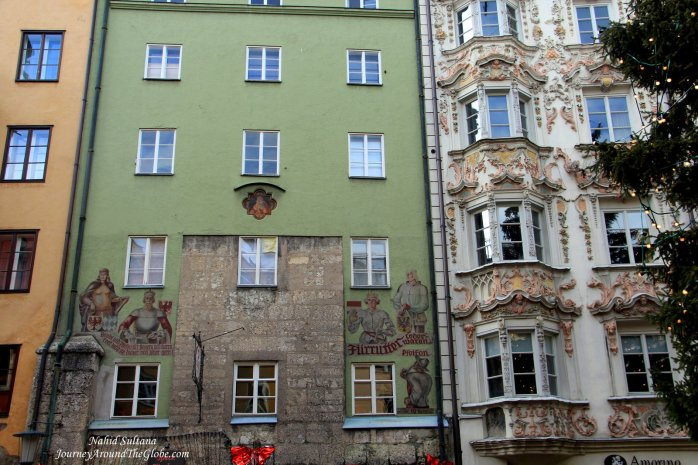 Some beautiful buildings in Herzog-Friedrich-Strasse in old town of Innstruck