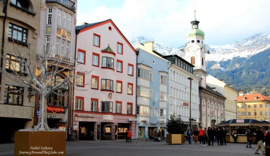 Maria-Theresien-Strasse - a picturesque pedestrian street of Innsbruck