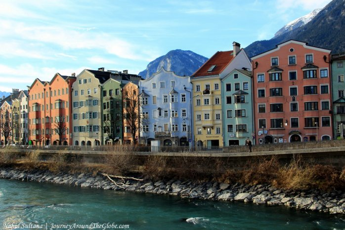 Innsbruck - a beautiful city by River Inn
