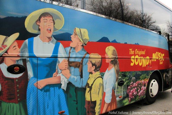 """Our """"Sound of Music"""" bus in Salzburg, Austria"""