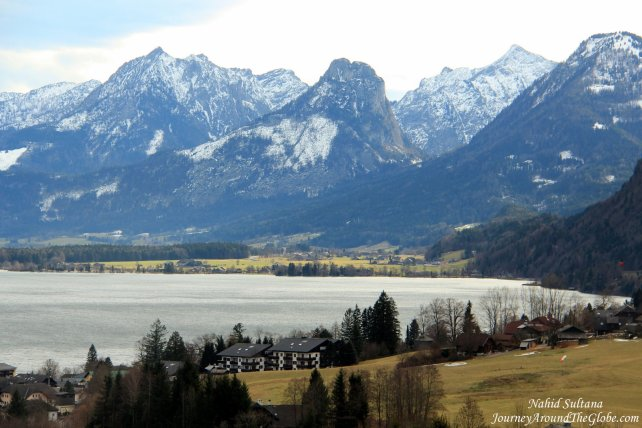 Stunningly beautiful Lake Wolfgang in St. Gilgen