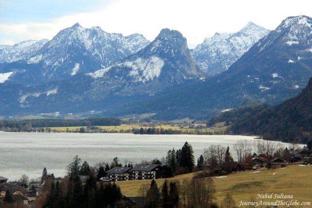 Stunningly beautiful Lake Wolfgang in St. Gilgen
