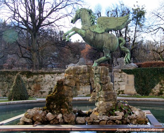 Pegasus in Mirabell Garden which was seen in the movie couple times