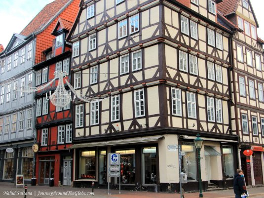 Some half-timbered houses in the old town of Hannover, Germany