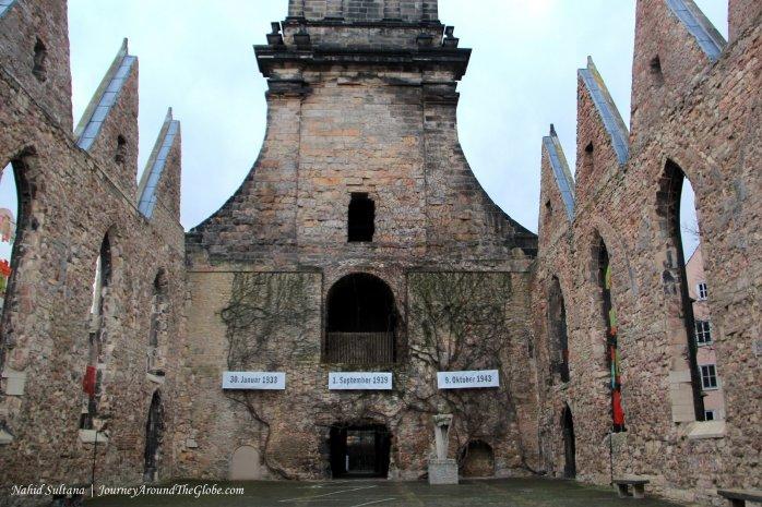 Ruins of Aegidien Church in Hannover, Germany