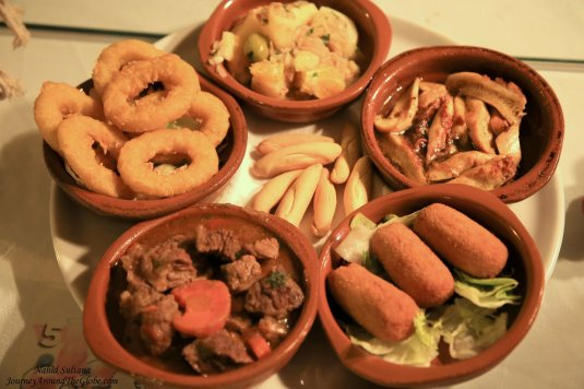 Some tapas we had for dinner in Malaga, Spain
