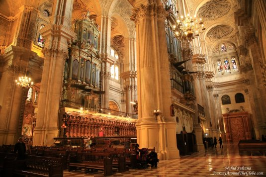 Inside Malaga Cathedral