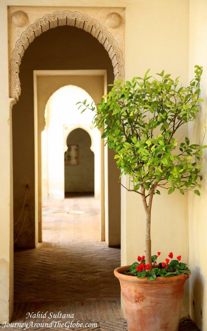 Moorish architecture in Malaga, Spain