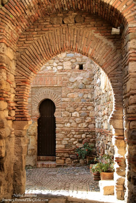 Malaga Alcazaba - a Moorish castle in Malaga, Spain
