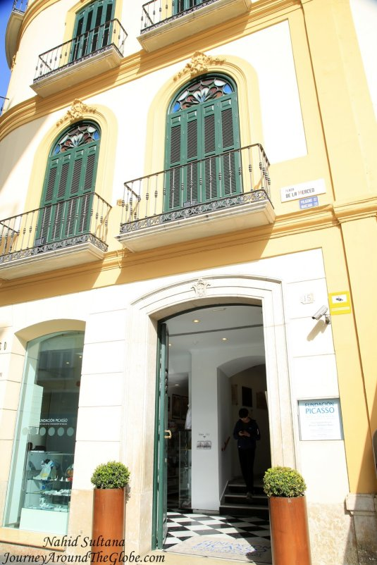 The house where Spanish painter Pablo Picasso was born in Malaga, Spain