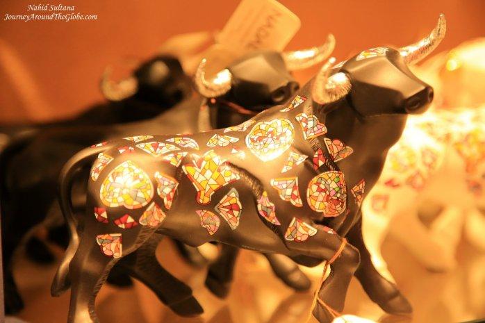 A beautiful Spanish bull in a souvenir shop in Granada, Spain