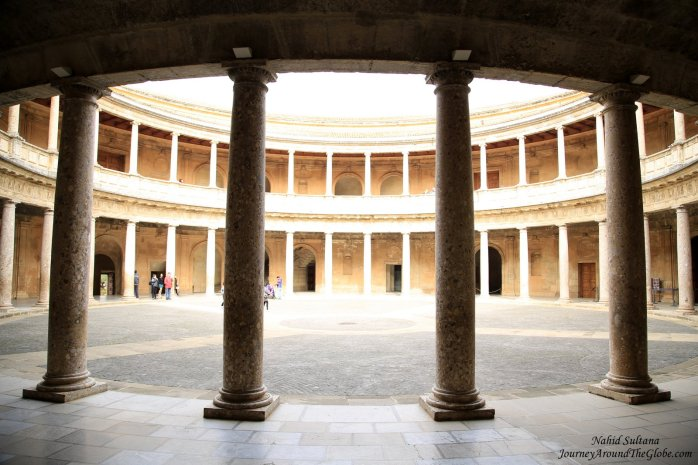 Palace of Charles V in Alhambra, Spain
