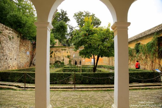 Court of Sultana in Generalife, one of the highlights of Alhambra in Granada, Spain