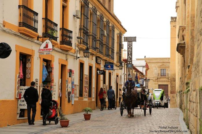 Medieval old town of Cordoba in Spain