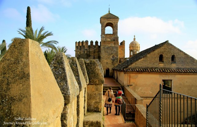 From one of the towers of Alcazar de los Reye Cristianos in Cordoba, Spain
