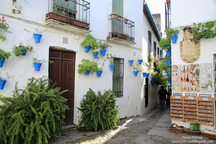 Flower Street or Calleja de las Flores in Cordoba, Spain