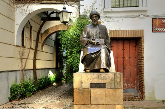 Looks like a statue of a Caliphate (?) in Jewish quarter of Cordoba, Spain