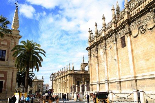 Historic city center of Seville, Spain
