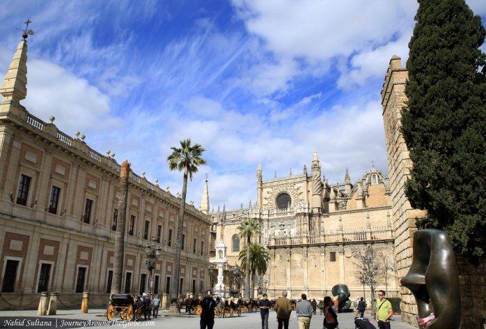 Plaza del Triunfo in Seville, Spain