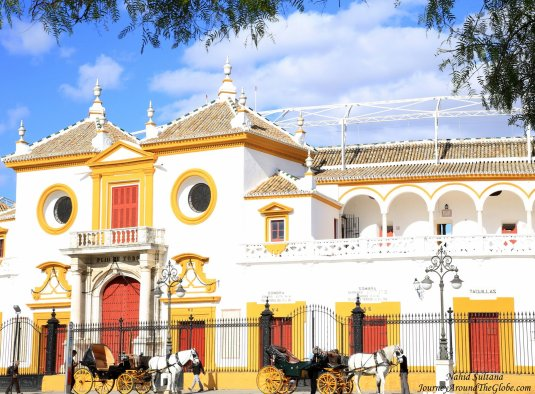 Seville Bullring - one of the famous bullrings of Spain from 1761 AD.