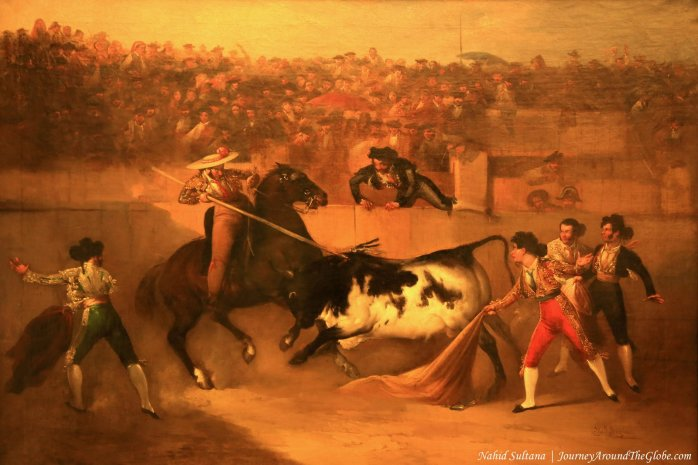 A painting in Seville Bullring Museum, Spain