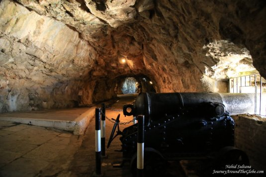 The Great Siege Tunnel - a 600 meter long tunnel in Gibraltar