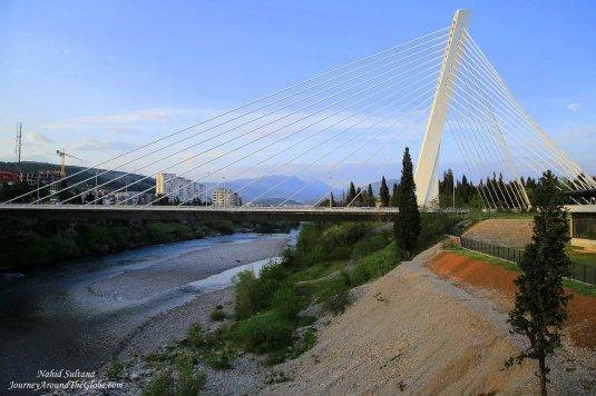 Millennium Bridge in Podgorica, Montenegro