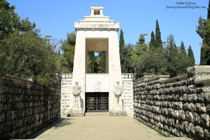 WWII War Memorial on Gorica Hill in Podgorica, Montenegro