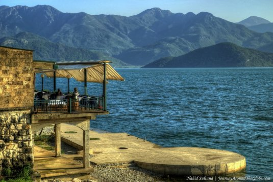 Skader Lake - the largest lake in the Balkans near Podgorica, Montenegro