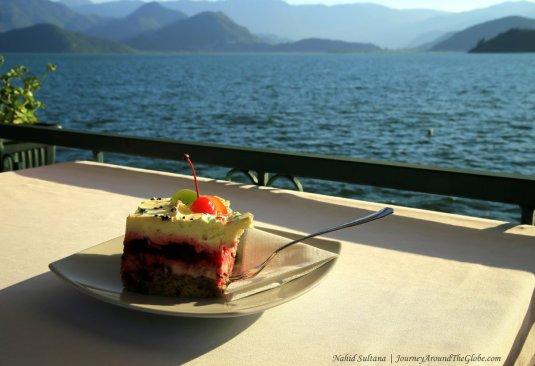 Chilling by Lake Skader near Podgorica, Montenegro