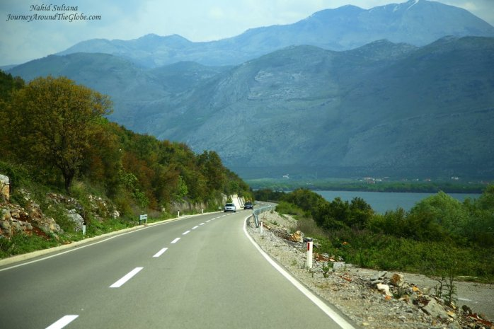 Scenic highway to Tirana, Albania (from Podgorica)