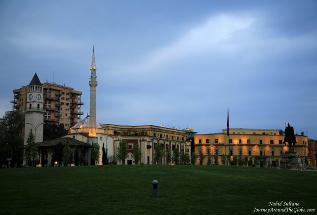 Skander Beg Square - the main square of Tirana, Albania