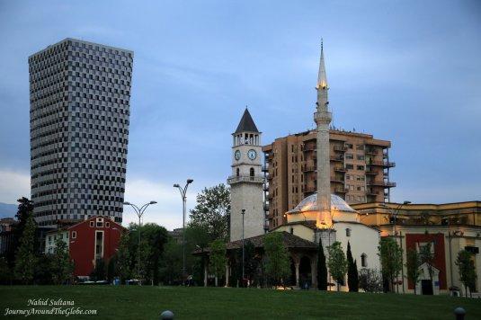 The main square of Tirana, Albania