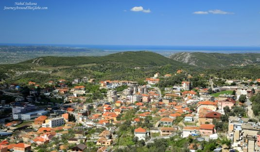 Gorgeous view from Kruja Castle hill in Albania