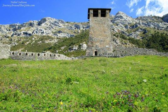 Ruins of Kruja Castle in Kruja, Albania