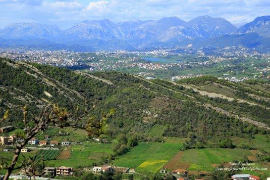 Magnificent view from Petrela Castle in Tirana, Albania