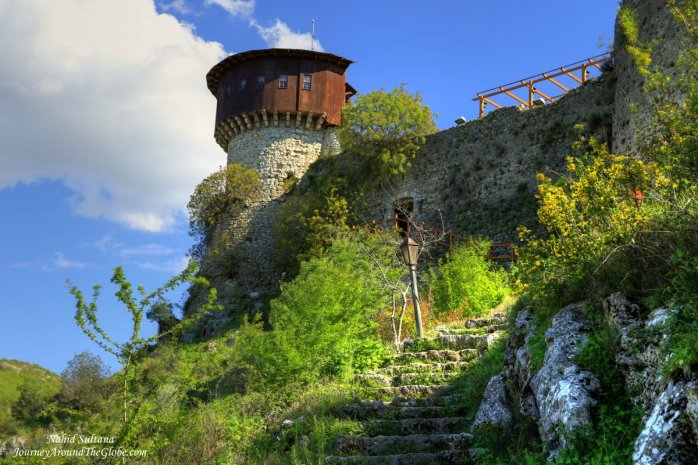 Tower of Petrela Castle near Tirana, Albania