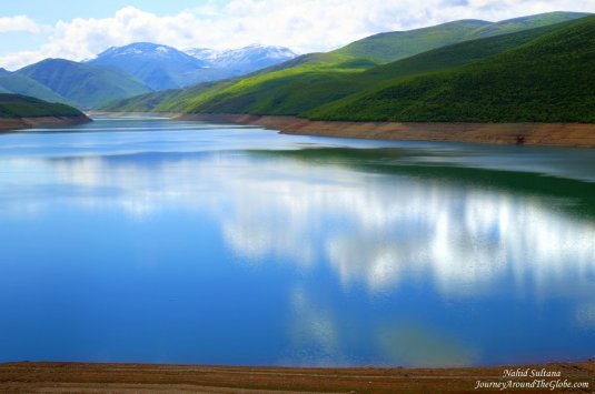 Don't know the name of this stunning lake that we saw in Albania, before crossing the border of Macedonia