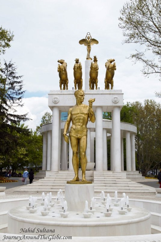 """""""Monument to the Fallen Heroes of Macedonia"""" opposite of Macedonian Parliament in Skopje"""