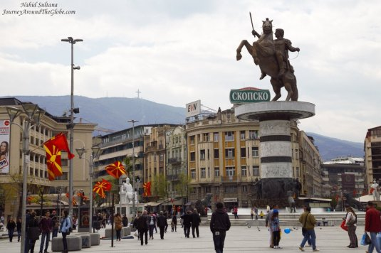Macedonian Square in Skopje