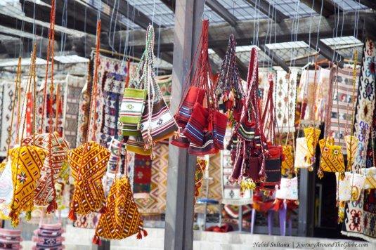 A big souvenir shop selling handmade items in the Old Bazaar of Skopje, Macedonia
