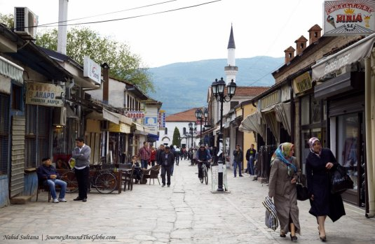 A scene of Old Bazaar in Skopje, Macedonia