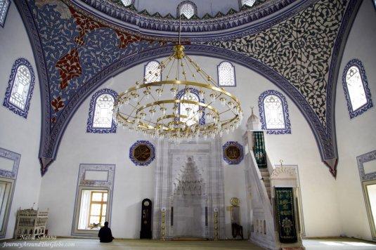 Inside Mustafa Pasha Mosque in Skopje, Macedonia