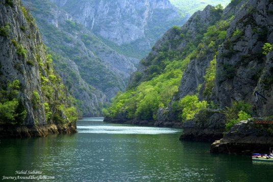 Stunningly beautiful Matka Canyon and Lake in Macedonia